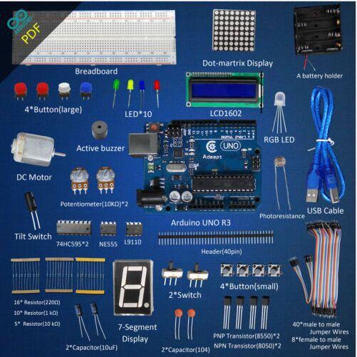 Adeept UNO Board(Arduino UNO)  L9110 Motor Driver DC Motor 7-Segment Display<br>