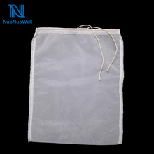 NuoNuoWell 120/200/300Mesh Nylon Filter Drawstring Bag Grape Wine Brewing Tool 20x30cm/30x40cm DIY Separating Pomace Bag(China)
