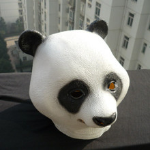 Free Shipping Funny Full Animal Head Latex Panda Mask Manufacture Masquerade Cosplay Masks