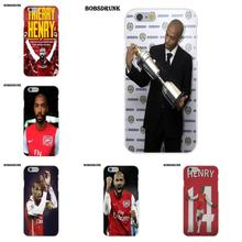 Soft Best Cases For iPhone 4 4S 5 5C SE 6 6S 7 8 Plus X For iPhone 4 4S 5 5C SE 6 6S 7 8 Plus X Henry Legend Arsenal Jersey(China)