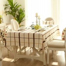 100% Linen Rectangular tablecloth Europe White Plaid Table Accessories table cover For Home Hotel Customized manteles para mesa