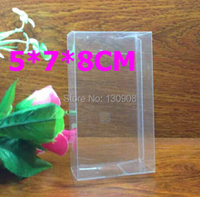 Joy size 5*7*8CM  Free shipping pvc box for gifts wholesale, small transparent Clear box for cosmetics