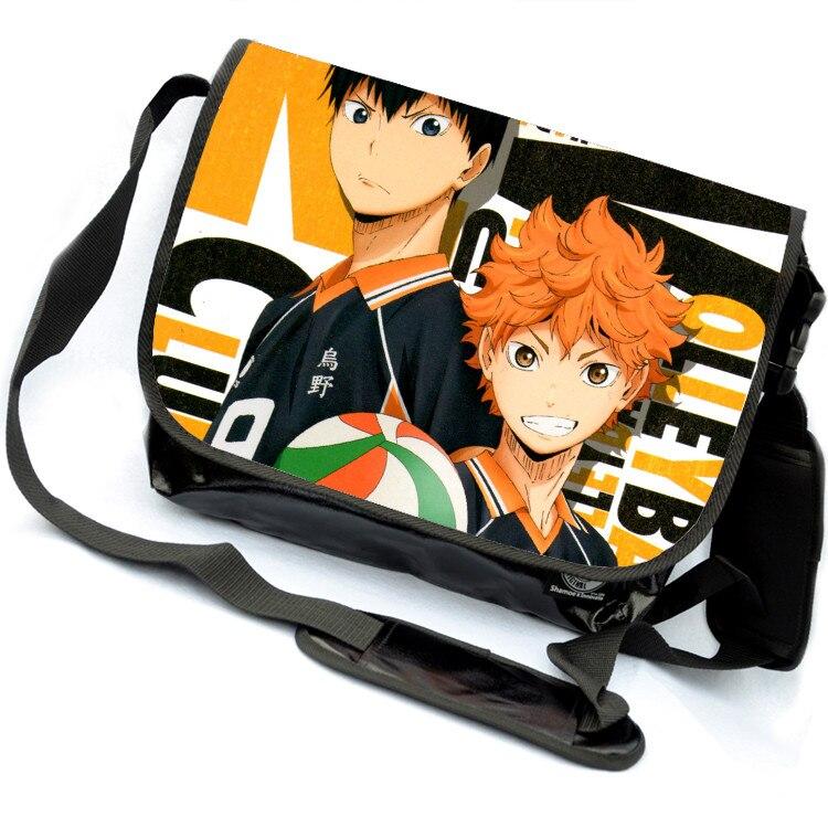Anime Haikyuu Cosplay Hinata Syouyou Cos Anime Shoulder Bag Messenger canvas Bag Student canvas Bag Handbags Birthday Gift<br>