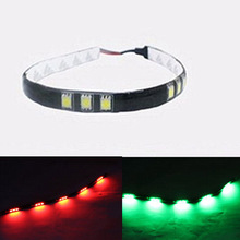 Bass Boat & Cruiser Bow Lighting Red & Green Navigation LED Kit Kayak Canoe Navi