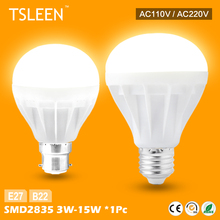 +Cheap+ E27 B22 Energy Saving LED Bulb Light Lamp 3/5/7/9/12/15W Cool Warm White 220V # TSLEEN