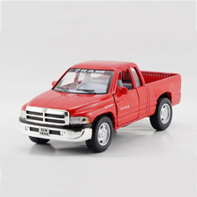 Ram Red Pickup truck 1/44 alloy models model car Pickup Diecast Metal Pull Back Car Toy For Gift Collection