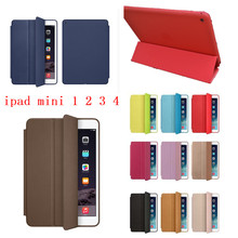 High quality cover Super Slim Smart Cover for Apple iPad Mini 4 Case iPad Mini 1 2 3 Original Ultra Flip PU Leather Stand Case