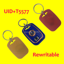 IC+ID UID Rewritable Composite Card Keyfob (125KHZ T5577 RFID+13.56MHZ UID Changeable MF S50 1K NFC )(China)
