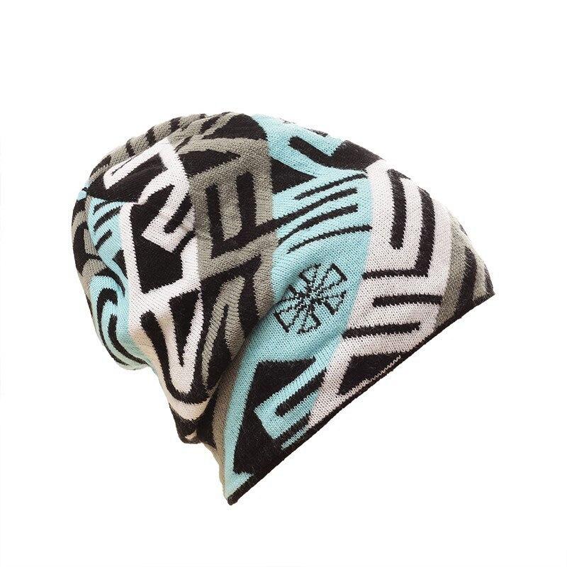 Warm Wool Snowboard Knit Skating Lot Geometric Patterns Wool Caps Brand Hats Skullies Beanies For Men Women Gorros De LanaÎäåæäà è àêñåññóàðû<br><br><br>Aliexpress