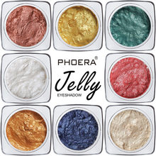 PHOERA Eye Shadow 12 Colors Professional Jelly Gel Highlighter Concealer Shimmer Face Glow Eyeshadow Make Up Women Mar21(China)