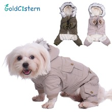 Pet Dog Cat Soft Warm Clothes Cartoon Coat Jacket Hoodies For Puppy Kitten Clothes Padded Apparel for Dogs Cats Doggy Kitty(China)
