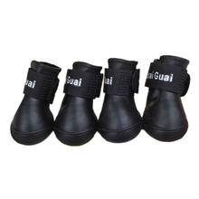 SZS Hot Black S,M,L Pet Shoes Booties Rubber Dog Waterproof Rain Boots