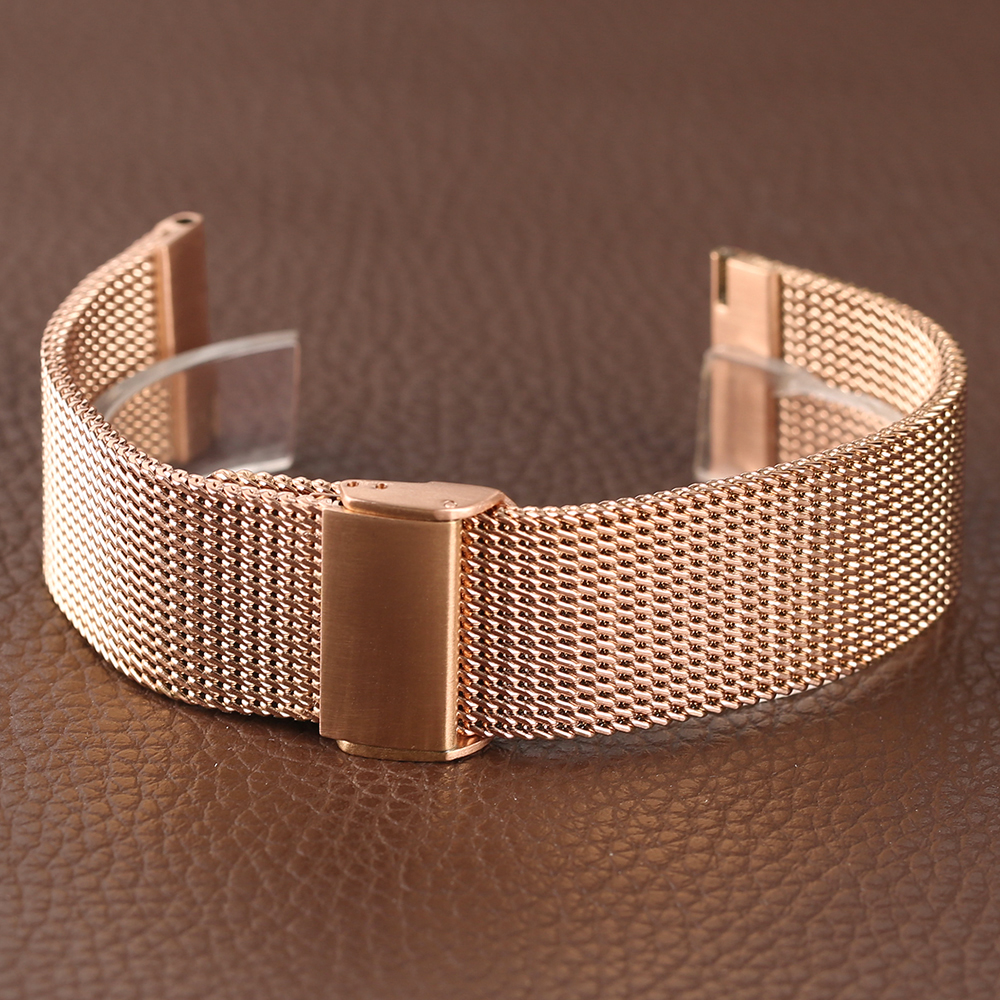 Rose Golden Stainless Steel Watch Band 2018 New Arrival 182022mm Women Men Wrist Band for HuaWei (11)