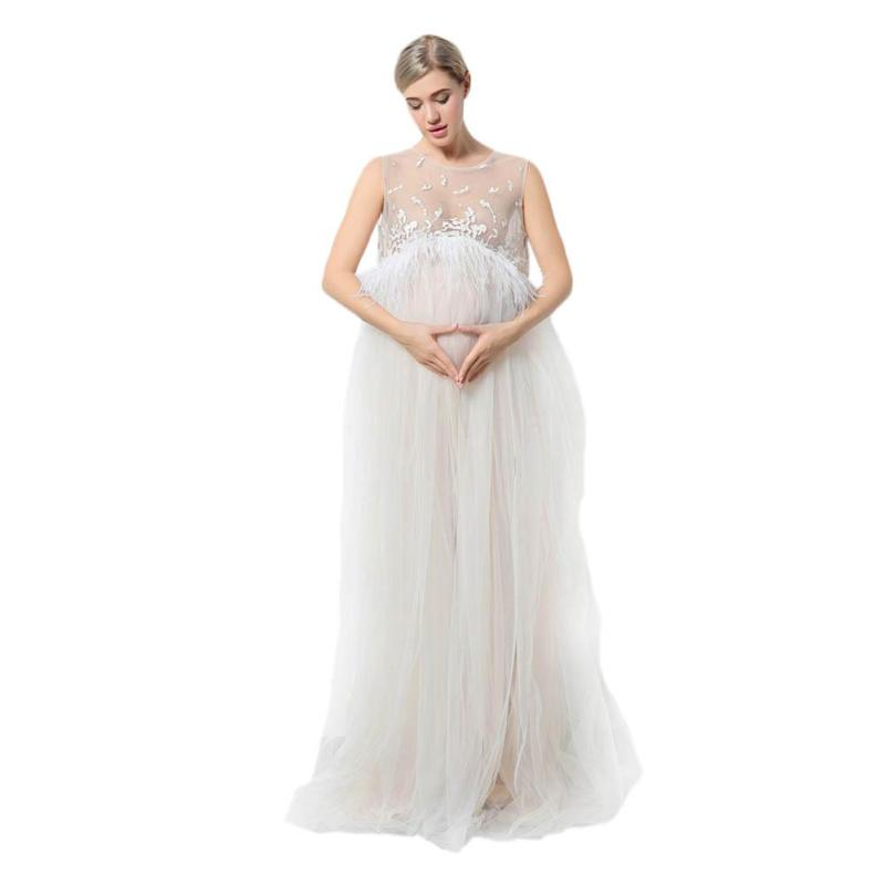 Maternity Photo Shoot Pregnancy Maxi dresses Maternity Photography Props Pregnant Dress Pregnancy Voile Clothes For gifts XV3<br>