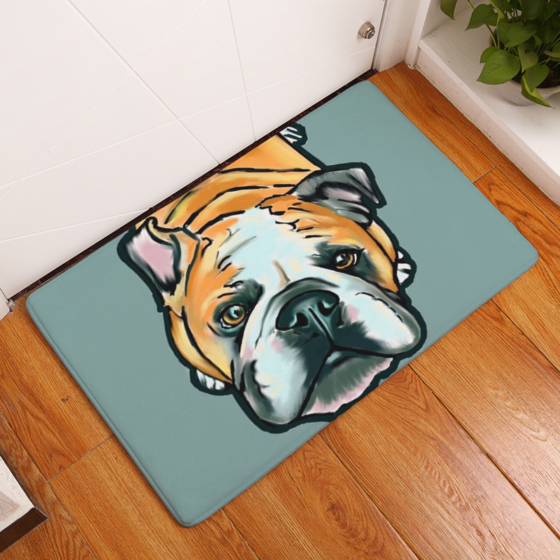 Floor Mats Flannel Living Bedroom Room Carpets Printed Dog Cartoon 6q5rd5