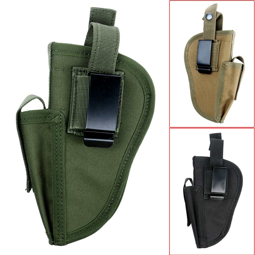 Waterproof Outdoor Hunting Military Tactical Hand Gun Pistol Holster Left Right Hand Shooting Airsoft Gun Pouch Mag Slot Holder