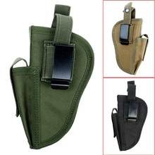 Waterproof Outdoor Hunting Military Tactical Hand Gun Pistol Holster Left Right Hand Shooting Gun Pouch With Mag Slot Holder