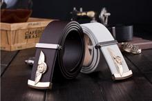 110 cm British fashion Bentley logo leather belt men's business casual upscale leather belt(China)