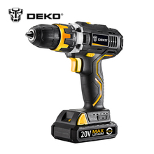 DEKO GCD20DU2 20V DC Household DIY Woodworking Lithium-Ion Battery Cordless Drill/Driver Power Tools Electric Drill Power Drill