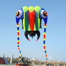 free shipping high quality 10sqm trilobites large soft kite bar nylon ripstop fabric alien inflatable kite dragon kite bird