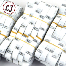 Wholesale 1roll/lot(about 500Pcs) Garment Label Clothing black white Woven Tags Number Printed Size Labels Eco-Friendly BP002(China)