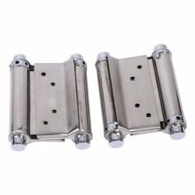 2Pcs 3'' Inch Double Hinge Cabinet Drawer Butt Hinge Door Swing Stainless Steel Door Hinges With Screws Hand Tools Hardware New