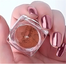 2g Rose Gold Mirror Powder Ultrafine Powder Dust Chrome Pigment Nail Glitters Nail Sequins Nail Art Decorations