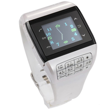 Wrist Watch Cell Phone Dual SIM Card Quad-band Keypad Touch Screen Q3 Phone Watch White 88 CX88