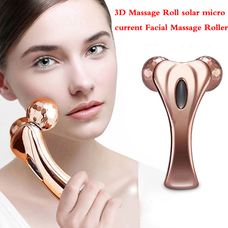 Facial Massage Roller 3D Massage Roll solar micro current Y-Shape Massage Roller Body shaping tightening Massage&amp; Relaxation<br>
