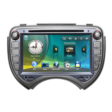 "7"" Car Radio DVD GPS Navigation Central Multimedia for Nissan March 2010 2011 SD USB RDS Analog TV Phonebook Bluetooth Handsfree"