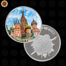 WR Silver Proof Coins Collectible Russian Saint Basil's Cathedral Gift Coin 999.9 Silver Foil Metal Coin Art Crafts for Gifts(China)