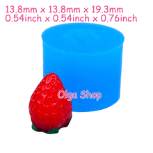 SYL081 19.3mm 3D Strawberry Silicone Mold - Fruit Mold Cake Decoration, Fondant, Marshmallow, Gum Paste, Resin Clay, Candy Mold(China)