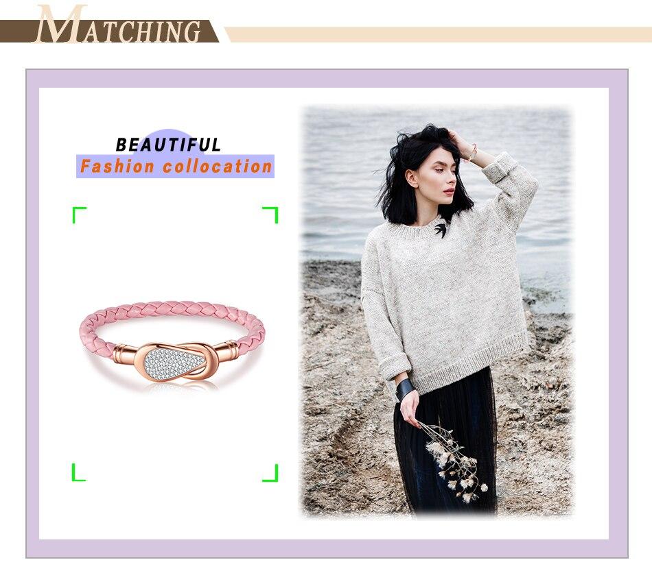 Women Leather Bracelet PU (9)