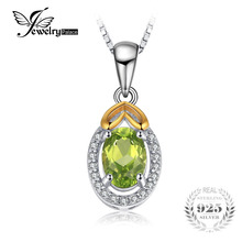 JewelryPalace Luxry 0.97ct Genuine Gemstone Peridot Pendant 925 Sterling Silver Include a 45cm Chain Fine Jewelry For Women(China)