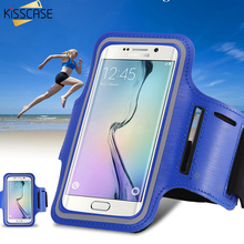 KISSCASE Sports Running Arm Band Leather Case For LG G2 For Google Nexus 5 For Samsung A5 Phone Arm Bag Band Holder Pouch Cover(China)