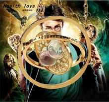 2017 Hot Selling Harry potter necklace time turner hourglass Harry Potter Necklace Hermione Granger Rotating Spins action figure