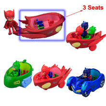 2017 New PJ Masks Characters Catboy Owlette Gekko Cloak With Slide Car Action Figure Toys Boy Best Gift For Children Holiday