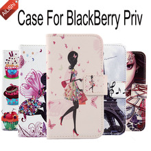 AiLiShi New Arrive Hot Sale Case For BlackBerry Priv Tracking Wallet Cover Skin Book PU Flip Leather Case Protective In Stock(China)