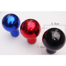 Black Aluminum Car Gear momo Shift Knob Ball Type Shifter Lever Universal Fit Manual Transmission(China)