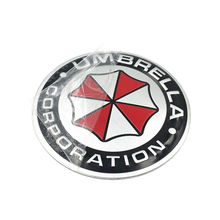 2pcs Umbrella Corporation Car Sticker car-styling 3D Aluminum Motorcycle Car Sticker Accessories for all cars(China)