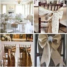 10M*30CM Table Runner Burlap Roll For Wedding Party Banquet Home Table Runner Wedding Party Chair Bands Vintage Home Decoration