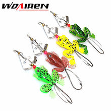 1Pcs frogs Swing Fishing Lure Rubber 8cm 6.2g Soft Fishing Lures Bass Spinner Bait spoon Lures carp fishing tackle YR-221