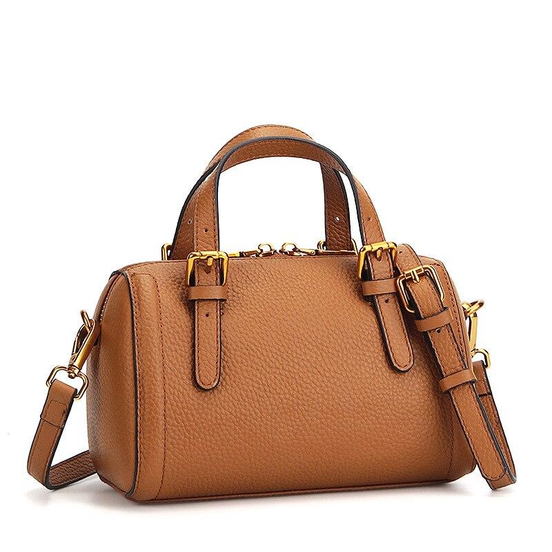 Litchi Pattern brand fashion female handbag genuine leather shoulder messenger bags ladies zipper boston bag for women totes<br>