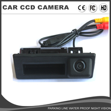 For Volkswagen VW Touran 2016 Audi A4L 2017 CCD Car Boot Trunk Handle Rear view Camera Lock switch Back up Reverse Camera