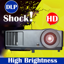 Best quality 3D Projector Native 1024x768 DLP 203W bulb Daylight 7000 lumens bulb replacable for home theater business use