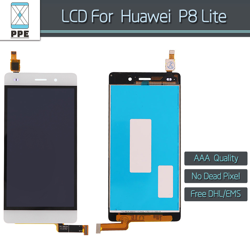10 pcs/lot black white Original LCD display for Huawei P8 Lite LCD display touch screen digitizer glass assembly 5 pantalla DHL<br><br>Aliexpress