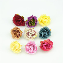 10pcs European Artificial Silk Peony  Flower Heads for Wedding Home Party Decoration DIY Bride Bouquet Cheap Mini Fake Flower