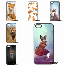 Watercolor Foxes Red Fox animal Art Cell phone Case For iPhone 4 4S 5 5C SE 6 6S 7 Plus Samsung Galaxy Grand Core Prime Alpha