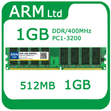 Comercio al por mayor de memoria de Escritorio DDR 400 Mhz 1 GB 512 MB PC-3200 RAM/compatible con toda la placa madre de Doble canal