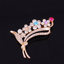 Brooches Broche Pin X057 Simple Things Ruili Magazine Clothes Corsage Brooch Inlaid Micro Flower Leaves Factory Direct Supply